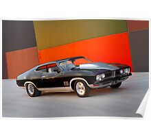 Black Ford XB GT Coupe Poster