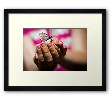 Butterfly catching Framed Print