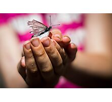 Butterfly catching Photographic Print
