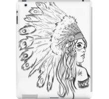 Red Indian - Line iPad Case/Skin