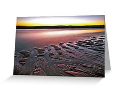 Tide Lines, Hunters Creek, Cape Leveque Greeting Card