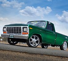 Green Ford F100 Pickup by John Jovic