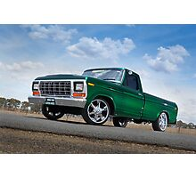 Green Ford F100 Pickup Photographic Print