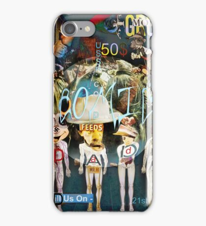 Comic Cover over a welsh Moutainside. iPhone Case/Skin
