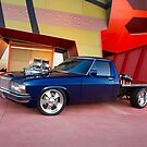 Supercharged Blue Holden HX Ute by John Jovic