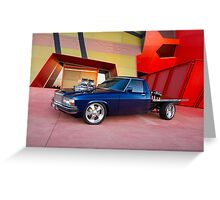 Supercharged Blue Holden HX Ute Greeting Card