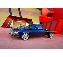 Supercharged Blue Holden HX Ute Photographic Print