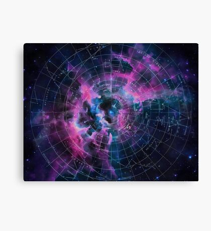 Space star map Canvas Print