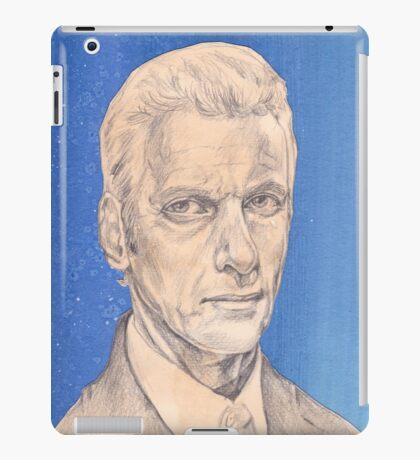 Doctor Who Fan Art Sketch - Peter Capaldi Sketch Portrait Drawing iPad Case/Skin