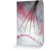 Aerobatic war Machine's Greeting Card