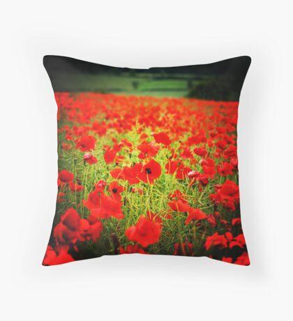 Flanders field Throw Pillow