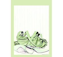 Green Bag & Shoes Photographic Print