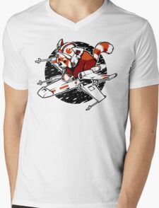 Red Panda, Standing By Mens V-Neck T-Shirt