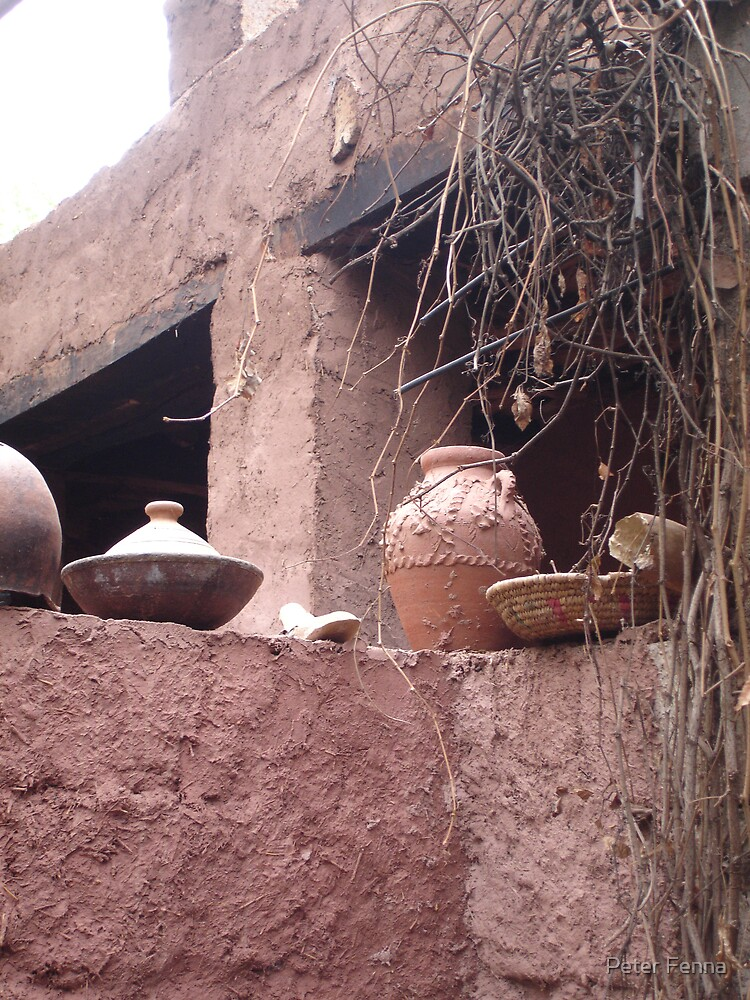 If your going to build a clay wall you might aswell make some pots! by Peter Fenna