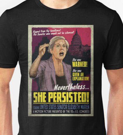 She Persisted - Elizabeth Warren Vintage Movie Poster Unisex T-Shirt