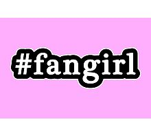 Fangirl - Hashtag - Black & White Photographic Print
