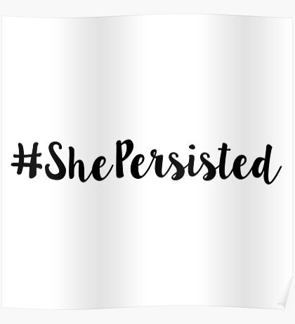 She Persisted stickers Poster
