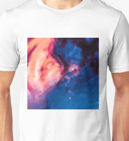 red purple and blue painting texture abstract background Unisex T-Shirt