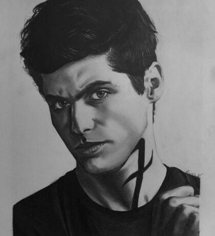 Matthew Daddario Pencil Portrait 'Alec Lightwood' Sticker