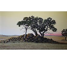"""""""The Cairn"""" 49x86cm, oil on linen. Photographic Print"""