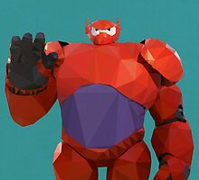 Baymax in armor - Low Poly by pop-lygons
