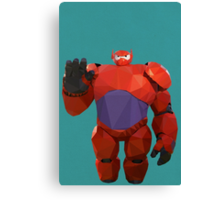 Baymax in armor - Low Poly Canvas Print