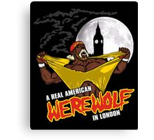 Real American Werewolf Canvas Print