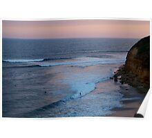 Twilight, Bells Beach Australia,Great Ocean Road Poster