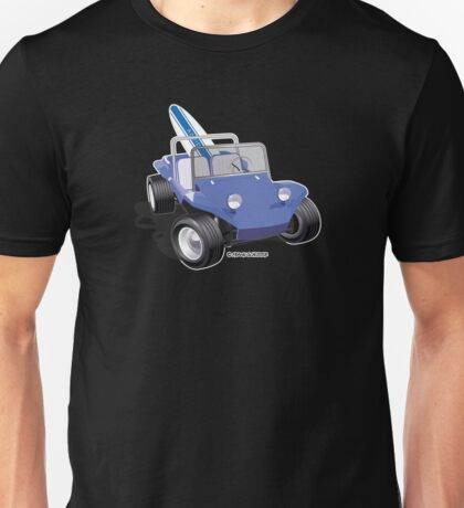 Blue Dune Buggy with Surfboard Unisex T-Shirt