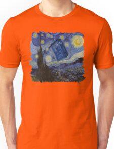 Starry Night Tardis Unisex T-Shirt