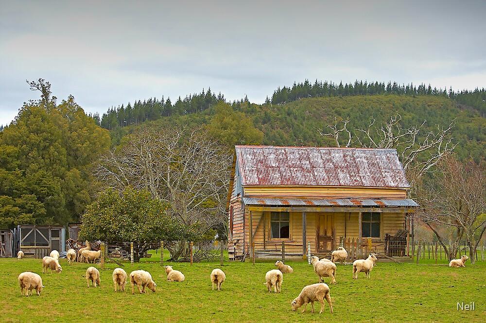 Deserted farmhouse by Neil