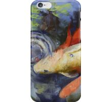 Koi and Water Ripples iPhone Case/Skin
