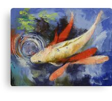 Koi and Water Ripples Canvas Print