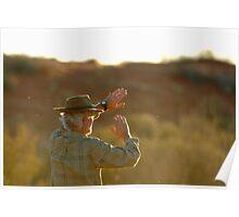 Desert Glare,Simpson Desert,Australia Poster