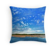 Looking Across Hunters Creek, Cape Leveque Throw Pillow