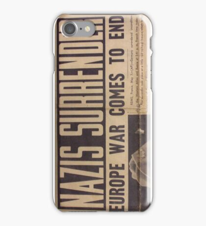 Nazis Surrender! iPhone Case/Skin