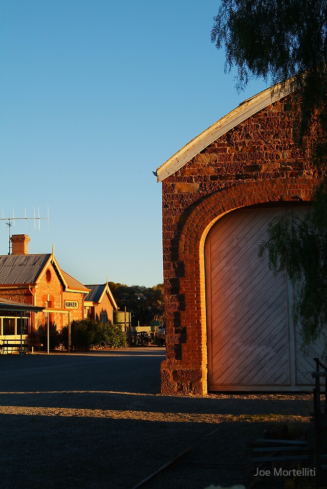 Hawker Railway Station,Outback South Australia by Joe Mortelliti