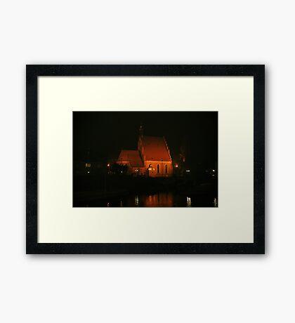 Cathedral at night, Bydgoszcz, Poland Framed Print
