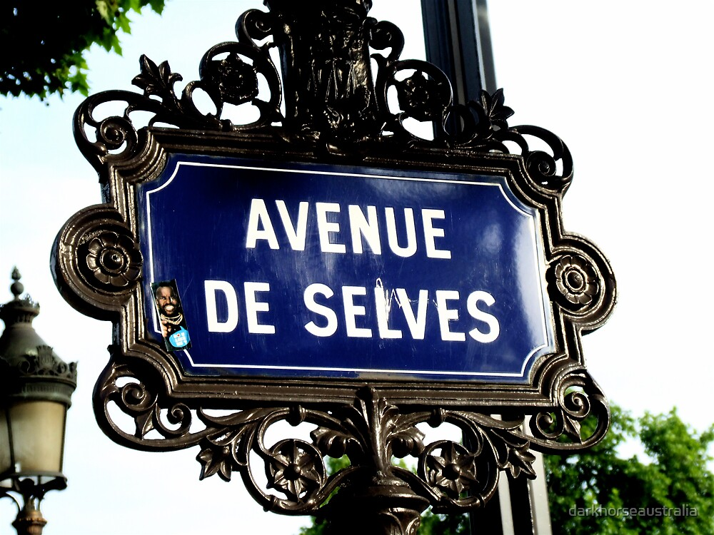 Street Sign on the Champs Elysses - Paris  by darkhorseaustralia