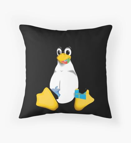 Linux is OP Throw Pillow