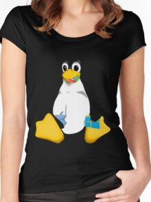 Linux is OP Women's Fitted Scoop T-Shirt