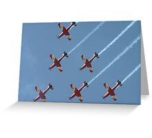 Formation Flying Greeting Card