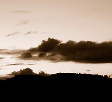 sepia sunset by Allan Maxwell
