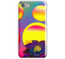 Sunset Moonlight Flower Rose Abstract iPhone Case/Skin