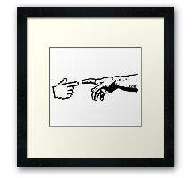 God and The Machine Hands Framed Print