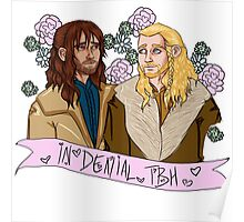 Fili and Kili - in denial about the Battle of the Five Armies Poster