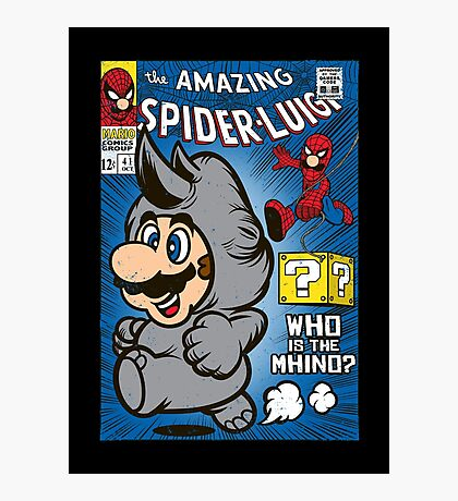 Spider-Luigi Photographic Print