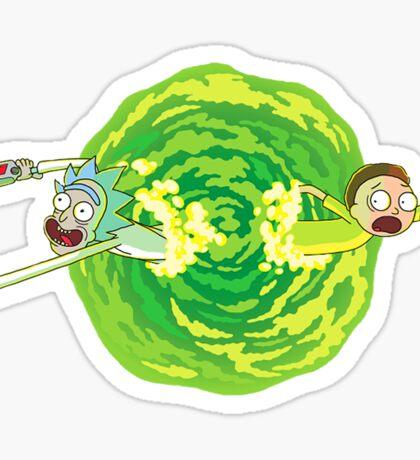 Rick and Morty Portal Jump Sticker