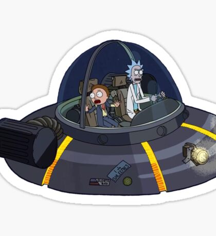 Rick and Morty Ship Sticker