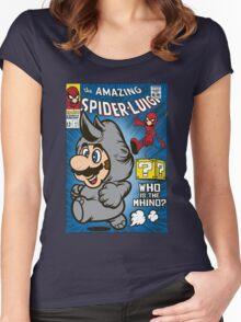 Spider-Luigi Women's Fitted Scoop T-Shirt